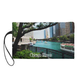 The Chicago River Front Wristlet Purse