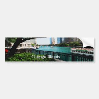 The Chicago River Front Car Bumper Sticker