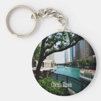 The Chicago River Front Keychain