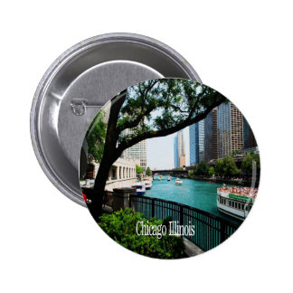 The Chicago River Front Pinback Button