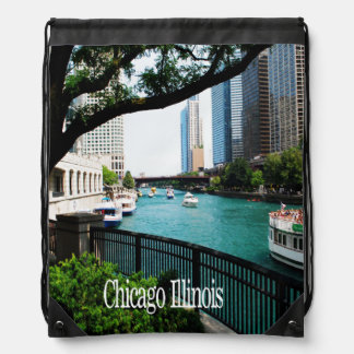 The Chicago River Front Backpacks