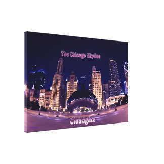 The Chicago Skyline and Cloudgate Canvas Prints