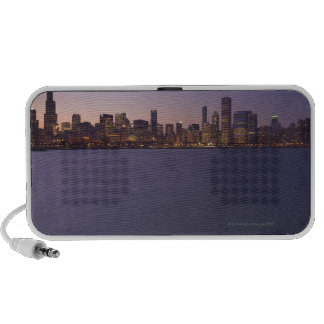 The Chicago skyline at twilight. iPod Speakers