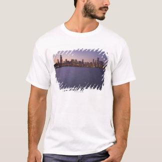 The Chicago skyline at twilight. T-Shirt