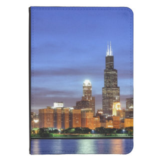 The Chicago skyline from the Adler Planetarium Kindle 4 Cover