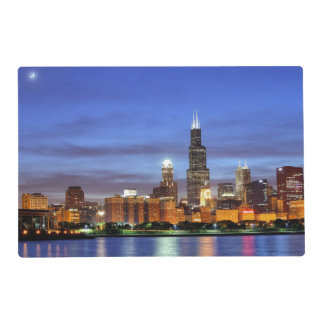 The Chicago skyline from the Adler Planetarium Placemat