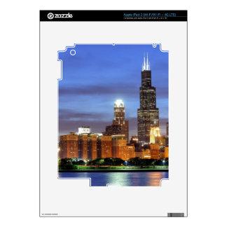 The Chicago skyline from the Adler Planetarium iPad 3 Skins