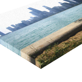 The Chicago Skyline from the Lake Canvas Print
