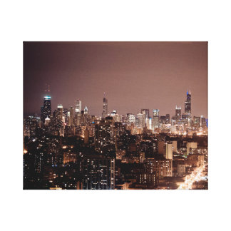 The Chicago skyline from Waveland Ave. Canvas Print