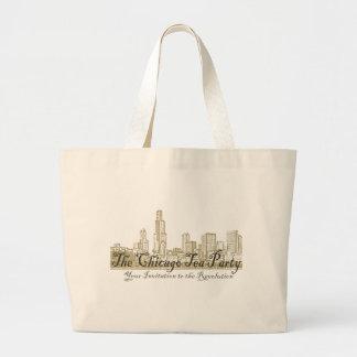 The Chicago Tea Party Jumbo Tote Bag