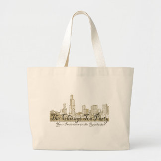The Chicago Tea Party Large Tote Bag