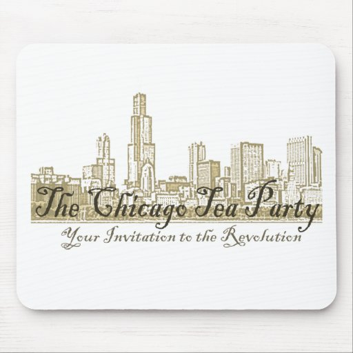 The Chicago Tea Party Mouse Pads
