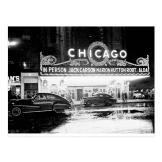 The Chicago Theater In The 1940's Postcard