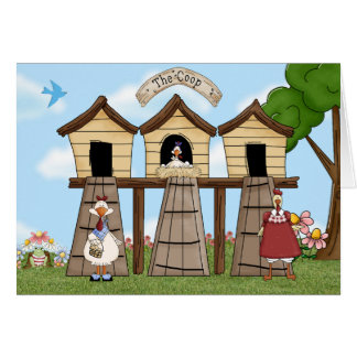 The Chicken Coop Greeting Card