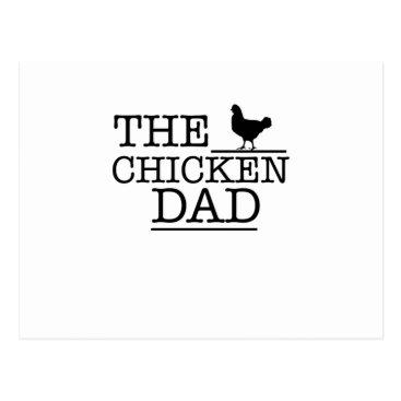 De_Look The Chicken Dad Funny  Pet Lover Gift For Dad Papa Postcard