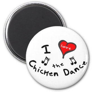 the Chicken Dance Gifts - I Heart the Chicken Danc 2 Inch Round Magnet