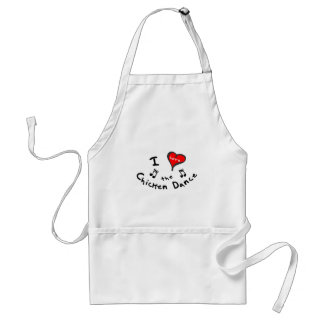 the Chicken Dance Gifts - I Heart the Chicken Danc Adult Apron