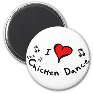 the Chicken Dance I Heart-Love Gift 2 Inch Round Magnet