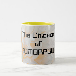 The Chicken of TOMORROW Two-Tone Coffee Mug