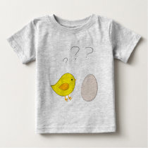 The chicken or the egg cute cartoon for easter baby T-Shirt
