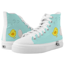 The chicken or the egg cute cartoon for easter High-Top sneakers