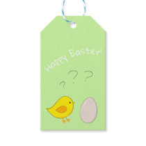 The chicken or the egg cute Easter cartoon Gift Tags