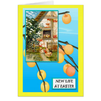 The chicks at home greeting card