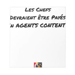 THE CHIEFS SHOULD BE PAID IN CONTENT AGENTS NOTEPAD