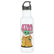 The Child | Cartoon Ink Drawing Stainless Steel Water Bottle