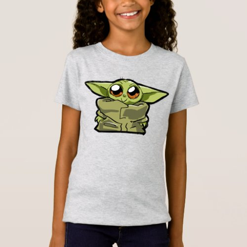 The Child Cute Cartoon Sketch T_Shirt