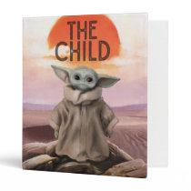 The Child Desert Background 3 Ring Binder