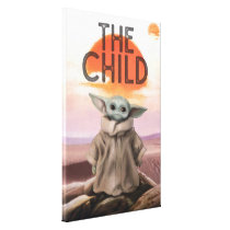 The Child Desert Background Canvas Print