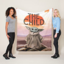 The Child Desert Background Fleece Blanket