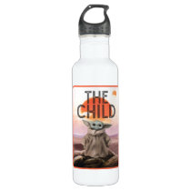 The Child Desert Background Stainless Steel Water Bottle
