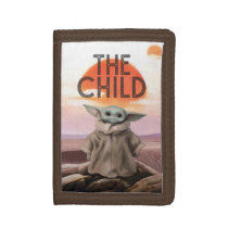The Child Desert Background Trifold Wallet