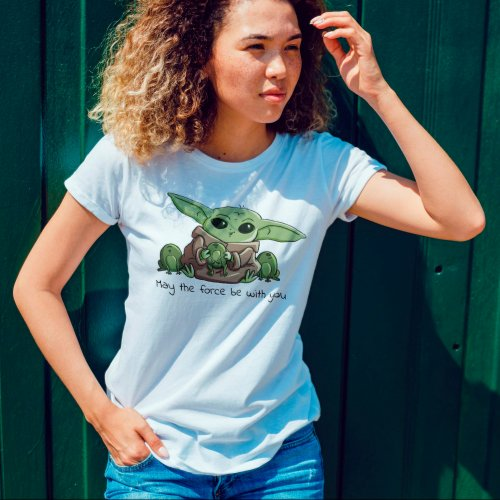 The Child Playing With Frogs Sketch Art T_Shirt