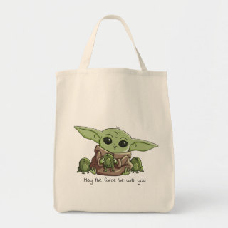 The Child Playing With Frogs Sketch Art Tote Bag