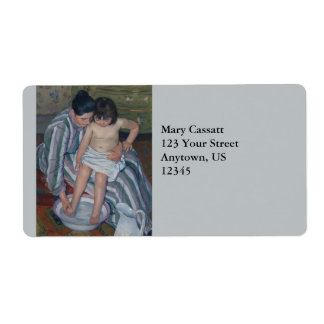 The Child s Bath by Mary Cassatt Personalized Shipping Labels