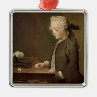 The Child with a Teetotum Metal Ornament