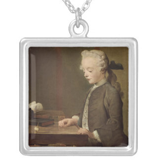 The Child with a Teetotum Silver Plated Necklace