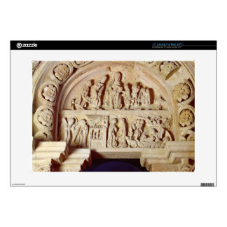 """The Childhood of Christ, Tympanum of Right Portal, 15"""" Laptop Skins"""
