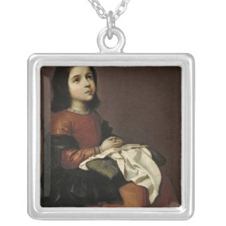 The Childhood of the Virgin, c.1660 Silver Plated Necklace