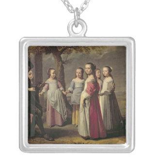 The Children's Dance Square Pendant Necklace
