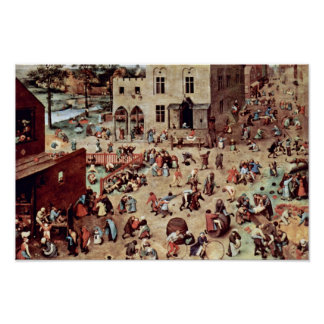 The Children'S Games By Bruegel D. Ä. Pieter (Best Poster