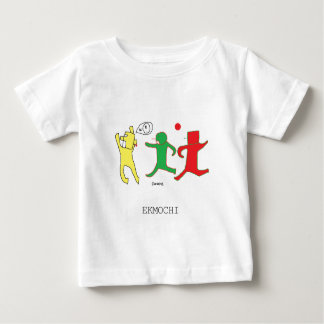 The children's wear of ekumochi well is busy baby T-Shirt