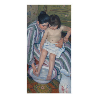 The Child's Bath by Mary Cassatt Card