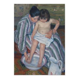 The Child's Bath by Mary Cassatt 5x7 Paper Invitation Card