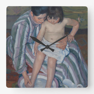 The Child's Bath by Mary Cassatt Square Wall Clock