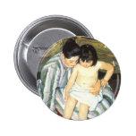 The Child's Bath by Mary Cassatt, Vintage Fine Art Pins