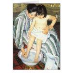 The Child's Bath by Mary Cassatt, Vintage Fine Art Greeting Cards